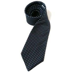 VTG 60's TATTERSALL Silk Tie Navy Polka Dot